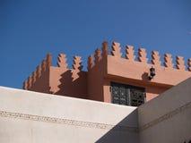 marrakech riad Arkivfoto