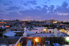 Marrakech rooftops at dusk Stock Photos