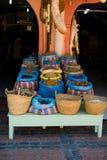 marrakech s souk Arkivbilder