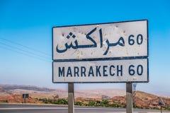 Marrakech sign royalty free stock photos