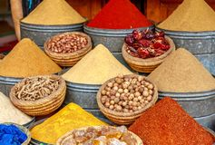 Marrakech Spices stock image