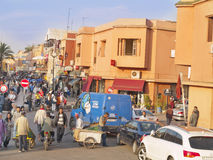 Marrakech stads- sikt. Arkivfoton