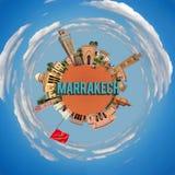 Marrakech tiny planet Stock Photo