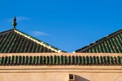 Marrakech, toit d'une maison et d'un ciel Photo libre de droits