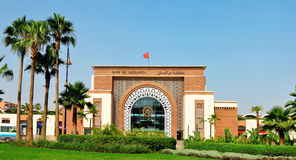 Marrakech train station Royalty Free Stock Image