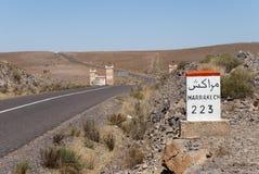 marrakech väg till Royaltyfri Fotografi