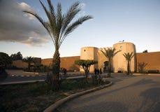 marrakech vägg arkivbilder