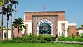 Marrakesch-Bahnstation Lizenzfreies Stockfoto