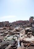 Marrakesch-Gerberei Lizenzfreie Stockfotografie