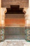 Marrakesch madrasah Verzierung Stockbild
