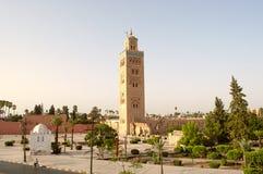 Marrakesch, Marokko - August, 3, 2016: Koutoubia-Moschee Stockbild