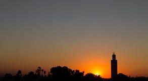 Marrakesch-Sonnenuntergang Stockfotos