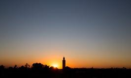 Marrakesch-Sonnenuntergang Stockfoto