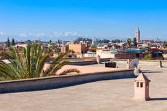 Marrakesh aerial view Royalty Free Stock Photo