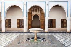 Marrakesh Bahia Palace Royaltyfri Foto