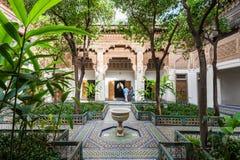 Marrakesh Bahia Palace. MARRAKECH, MOROCCO - FEBRUARY 22, 2016: The Marrakesh Bahia Palace is a palace and a set of gardens located in Marrakesh, Morocco Stock Photography