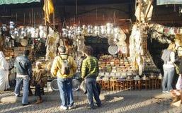 marrakesh basar Arkivfoton