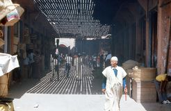 1974. Morocco. Marrakesh, bazaar. Royalty Free Stock Image
