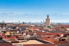 Marrakesh flyg- sikt Arkivbild