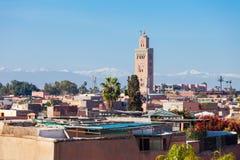 Marrakesh flyg- sikt arkivfoto