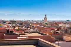 Marrakesh flyg- sikt royaltyfria foton