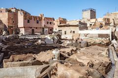 City of Marrakesh in Morocco Royalty Free Stock Images