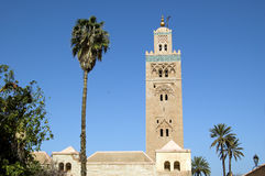 Marrakesh Koutoubia Minaret. A view from the garden of the Koutoubia Minaret in Marrakesh Royalty Free Stock Photos