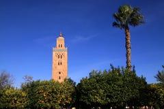 Marrakesh Koutoubia moské Arkivbilder