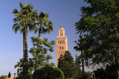 Marrakesh koutoubia mosque Stock Photography