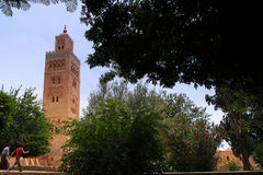 Marrakesh koutoubia mosque. In morocco Stock Images