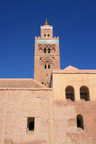 Marrakesh Koutoubia Mosque and courtyard Stock Photography