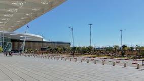Marrakesh lotnisko - widok Outside obrazy stock