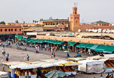 Marrakesh main square Royalty Free Stock Photography