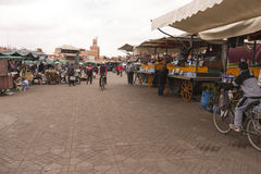 Marrakesh main square Royalty Free Stock Images