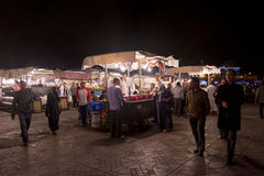 Marrakesh main square at night Royalty Free Stock Image