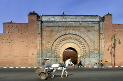 Marrakesh medina door Royalty Free Stock Photography