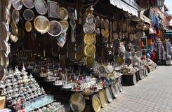 Marrakesh Medina marknader Arkivfoto