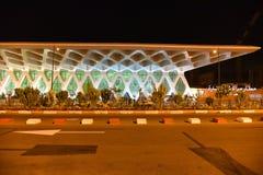 Marrakesh Menara airport. Night view of the Menara International airport in Marrakesh, Morocco, Africa Stock Image