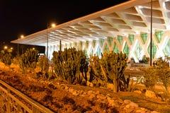 Marrakesh Menara lotnisko przy nocą Obrazy Royalty Free