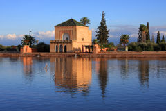 marrakesh menarapavillion Arkivbilder