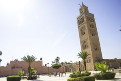 Marrakesh, Morocco Africa. Mosque in Marrakesh, Morocco Africa Stock Image