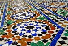 Mosaic of the El Bahia Palace in Marrakesh. Marrakesh Morocco The Arabian Palace in Bahrain: قصر الباهية, Qaṣr al-Bāhiya royalty free stock photos