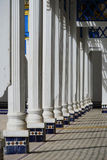 Shadows of the arches in El Bahia Palace in Marrakesh. Marrakesh Morocco The Arabian Palace in Bahrain: قصر الباهية, Qaṣr stock images