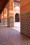MARRAKESH, MOROCCO: Courtyard of the Medersa Ben Youssef Stock Photo
