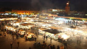 Marrakesh, Morocco (Djema el Fna) Night Food stall Stock Photos