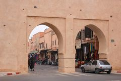 The gates of the medina, an entrance to the historic part of the Royalty Free Stock Images