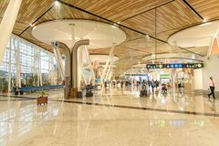 Departure hall of Menara Airport in Marrakesh. Morocco Royalty Free Stock Photo