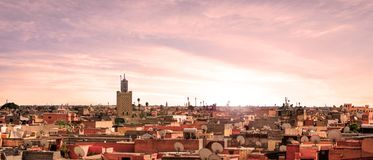 Marrakesh in Morocco. Nice view in the city of Marrakesh in Morocco - Africa Royalty Free Stock Image
