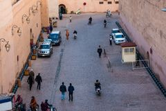 Crowded streets of marrakech. Marrakesh, Morocco - November 15, 2016 : crowded streets of marrakech Royalty Free Stock Photo