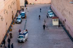 Crowded streets of marrakech. Marrakesh, Morocco - November 15, 2016 : crowded streets of marrakech Stock Image